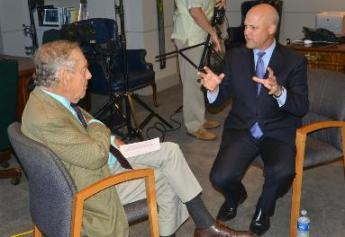 """60 Minutes"" correspondent Morley Safer interview New Orleans Mayor Mitch Landrieu"
